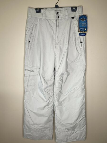 NWT Columbia Mens Small Snow Ski Pant Gray Omni Tech Waterproof Breathable