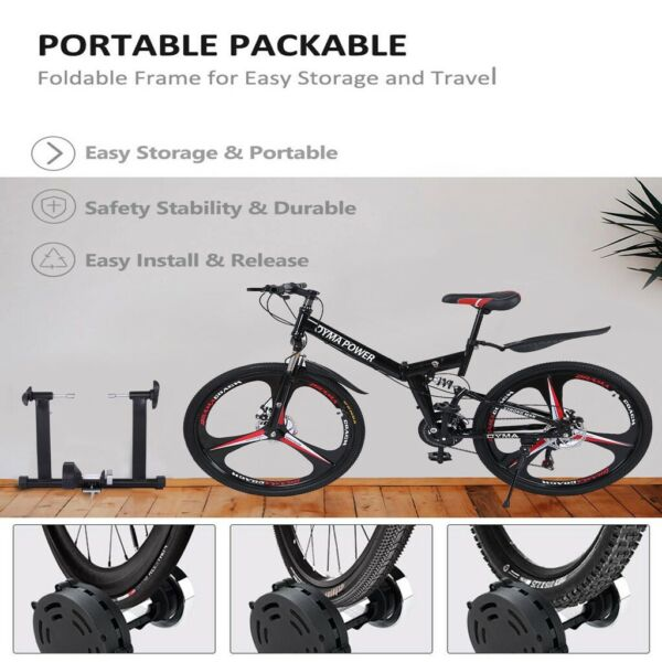 Bike Trainer Stand Magnetic Bicycle Stationary Stand For Indoor Exercise health $87.01