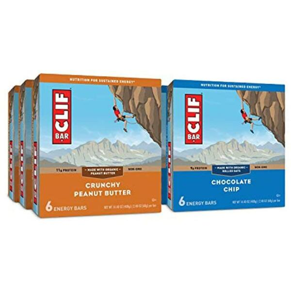 CLIF BAR Energy Care Package Chocolate Chip amp; Crunchy Peanut Butter 36 Bars