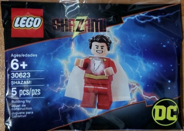 LEGO SHAZAM minifigure Set #30623 5 Pieces DC Comics Super Heores NEW