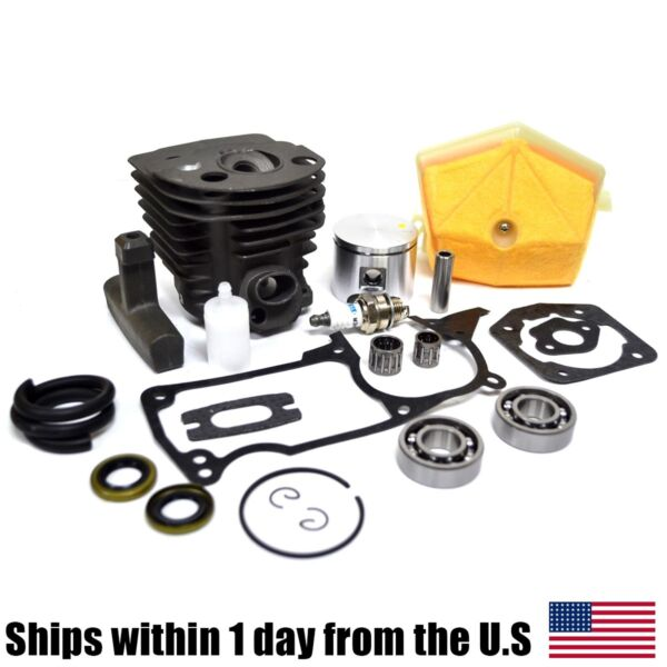 46mm Cylinder Piston Kit w for Husqvarna 55 51 Chainsaws 503 60 91 71