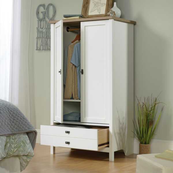 Tall Wardrobe Cabinet Armoire Clothes Storage Closet Organizer Bedroom Furniture