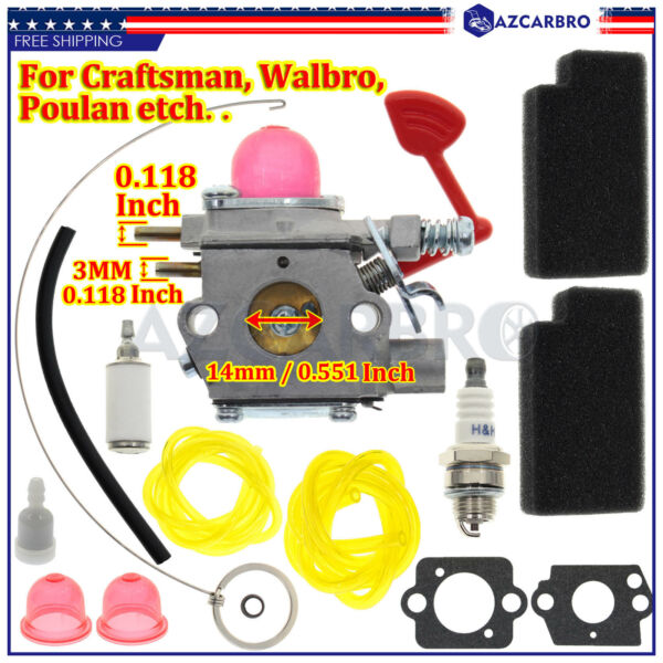 For Craftsman Blower carburetor 545081855 Walbro WT 875 A WeedEater McCulloch
