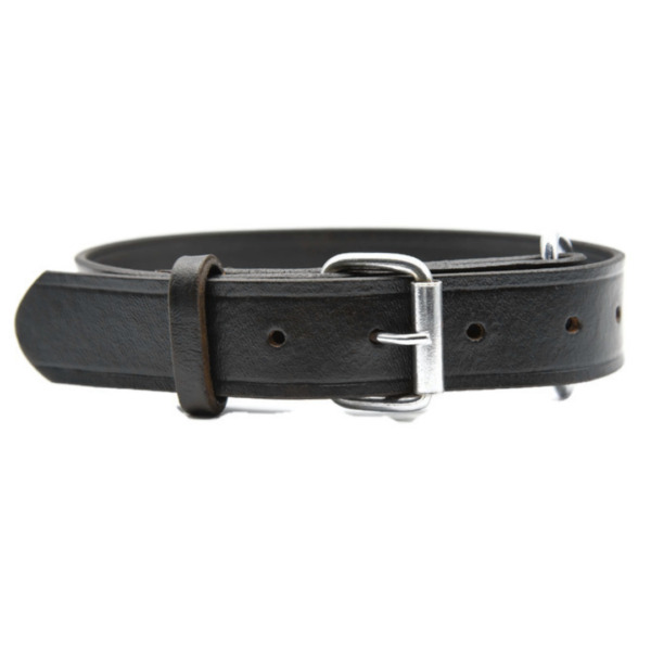 Real Leather Dog Collar Soft 1quot; Wide Pet Collar Adjustable S M L XL Heavy Duty $13.81