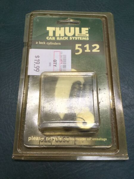 NOS Thule 2 Pack Lock Cylinders w Keys N050 $48.00