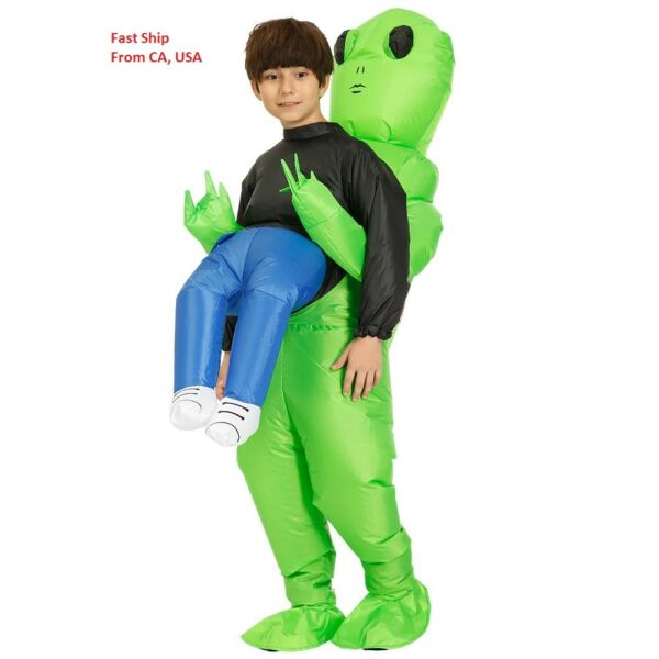 3#x27;6 to 4#x27;2 Inflatable Alien Costume Hug From Back Funny for Kids Halloween Party $29.99