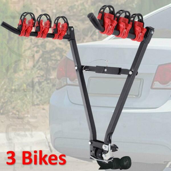 3 Bicycle Trunk Mount Portable Bike Carrier Rack Hatchback for SUV amp; Car Sport $41.08