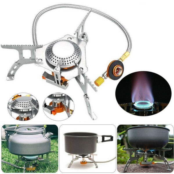 3500W Outdoor Picnic Gas Burner Portable Backpacking Camping Hiking Mini Stove $16.39