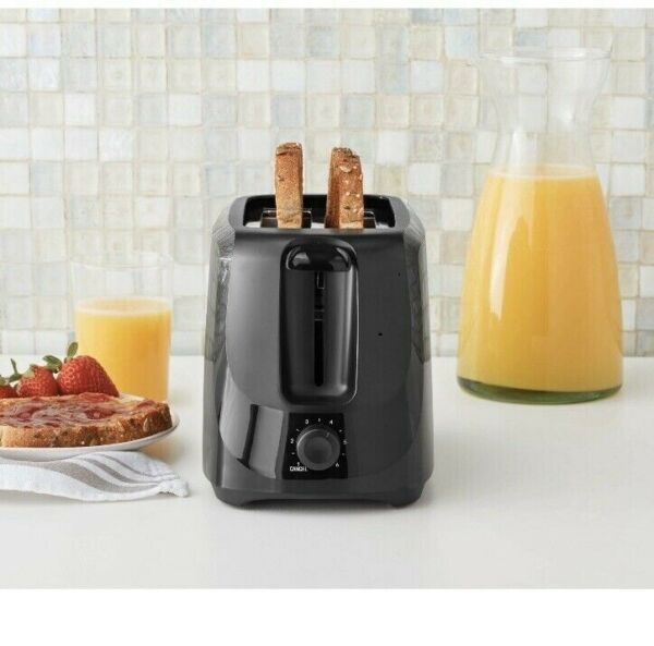 Mainstays 2 Slice Black Toaster New In Box Fast Free Shipping