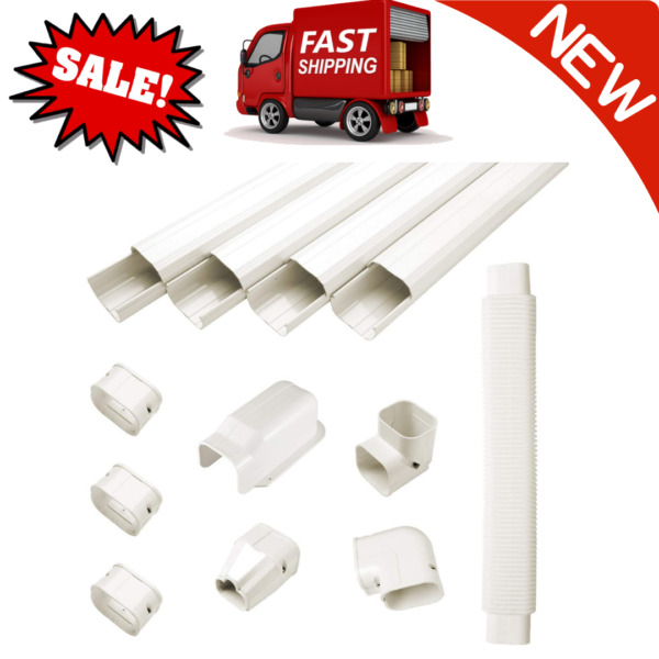 3quot; W 15ft L Air Conditioner Decorative PVC Line Cover Kit And Heat Pumps Systems $61.99