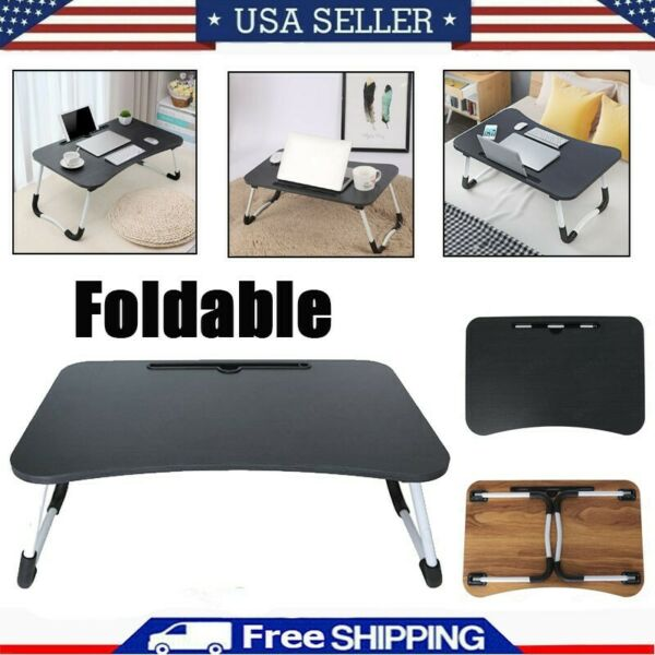 Large Bed Tray Foldable Portable Multifunction Laptop Desk Lazy Laptop Table US $17.59