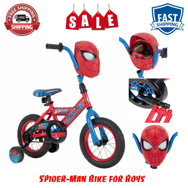 Boys Bicycle 12 Inch Huffy Marvel Spider Man Bike For Kids 3 5 years Best Gift $95.55