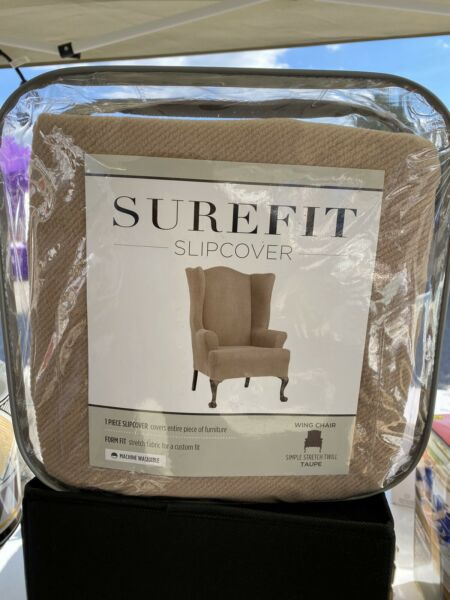 SureFit Stretch Wing Chair Slipcover Taupe $29.99
