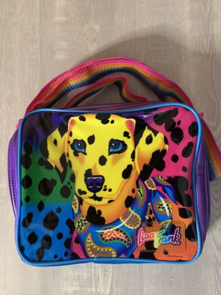 Vintage Lisa Frank Dalmatian Dog Rainbow Lunch Bag #37 $169.99