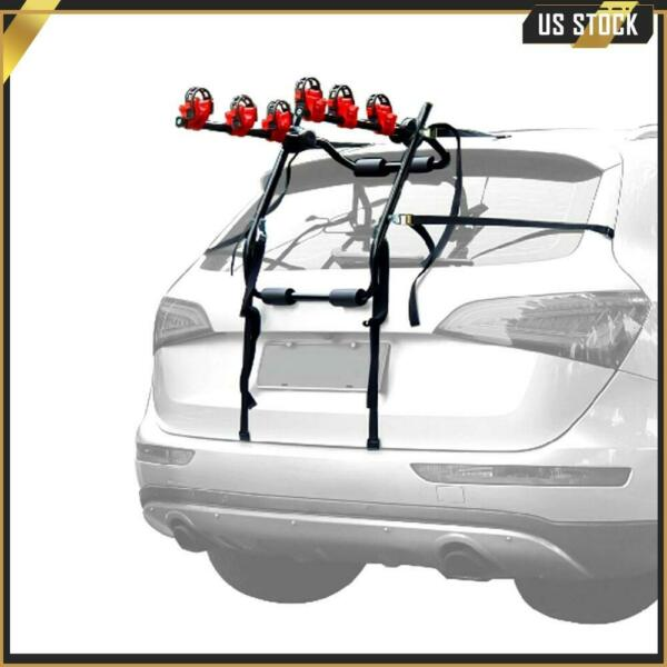 Car SUV Rear Mounted 3 Bike Trunk Mounted Rack Hatchback Bicycle Cycle Carrier $48.82
