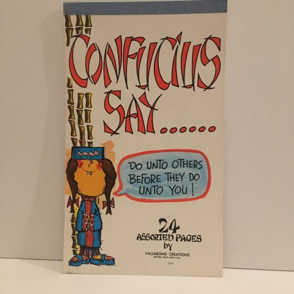 Vintage Note Pad by Vagabond Creations Confucius Say Stationary $8.00