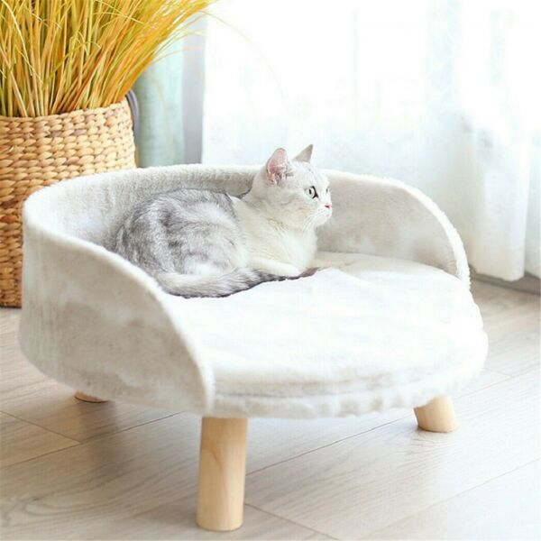 Soft Pet Bed with Padded Mat Stool Cat Kitten Hideaway House Sleeping Rest Seat $46.91