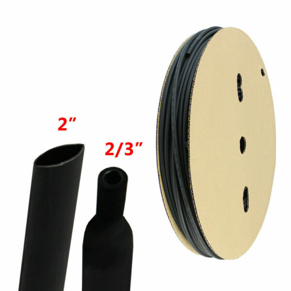 Heat Shrink Tubing 3:1 Marine Grade Tube Wire Cable Adhesive Lined Tube 20FT 2quot; $46.79