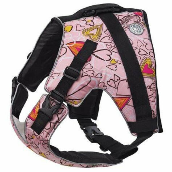 NWT Doggles Sierra Dog Supply Canine Flotation Vest Pink Hearts Medium 8.5quot; $29.99