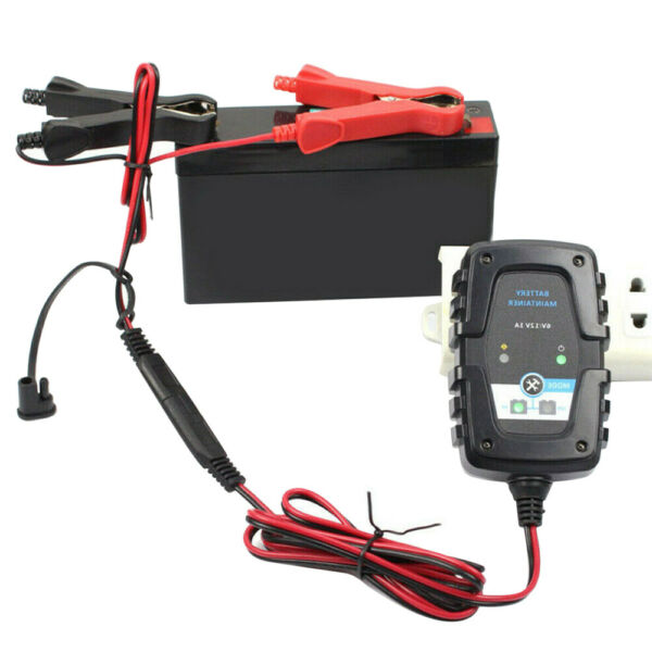 12V 6V Auto Car Trickle Battery Charger Testers Maintainer for Motorcycle Boat $18.04