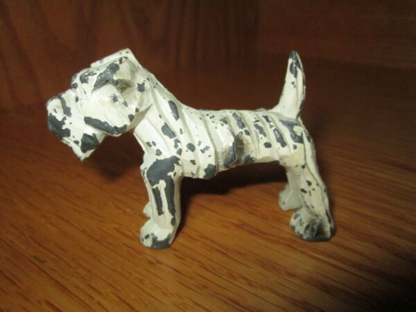 Vintage Painted Metal Dog Figurine $14.00
