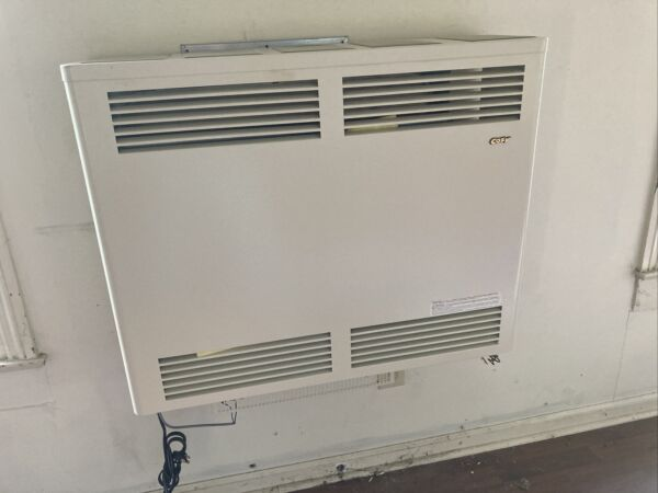 COZY 33k BTU DIRECT VENT NATURAL GAS HEATER HORIZONTAL REMOTE THERMOSTAT $750.00