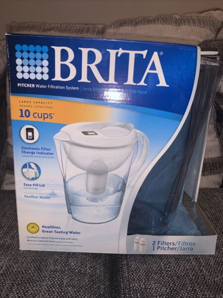 Brita 10 Cup Pitcher Water Filtration System Filter Change Indicator