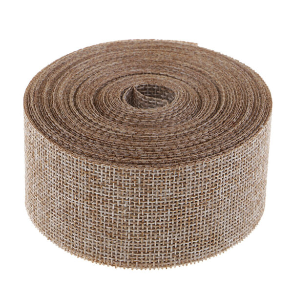 1.6#x27;#x27; Burlap Fabric Ribbon 10YD for Crafts Gift Wrap Decor Christmas Tree Chairs