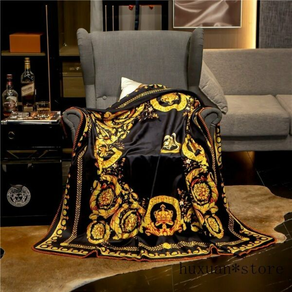 Classic Palace Luxury Blanket Fleece Velvet Sofa Throws Digital Printing Flannel