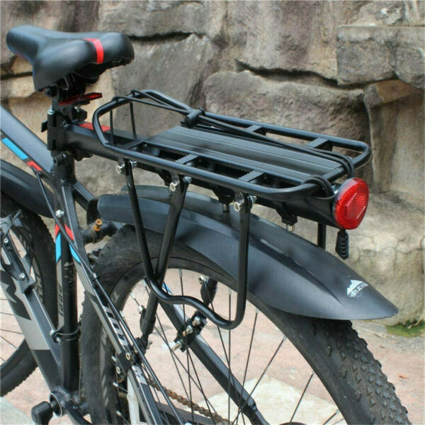 110 lbs Load Cycle Bike Rear Rack Adjustable Alloy Carrier Seat Support Bracket $25.95