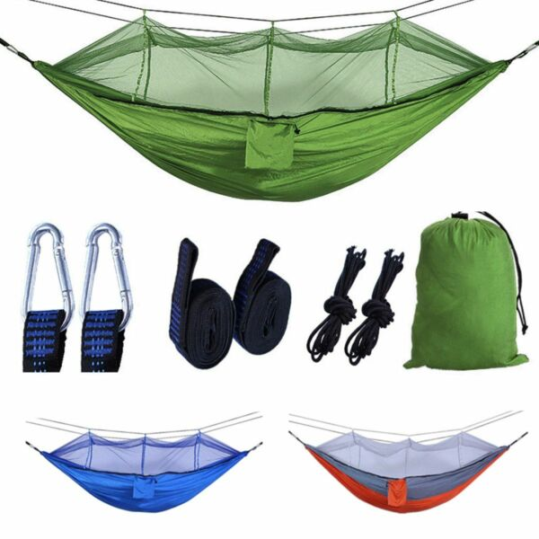Portable 2 Person Hammock with Mosquito Net Netting Outdoor Camping Hanging Bed $21.14