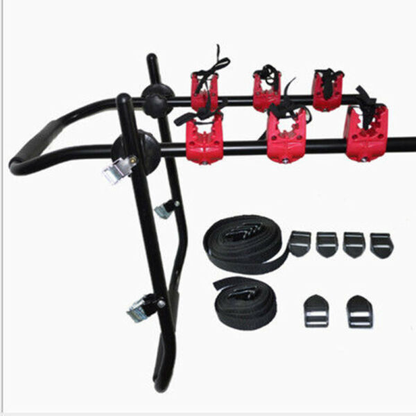 New Car Truck SUV Bicycle Rack 3 Bikes Holder Trunk Bike Rack Roof Sucker Rack $44.05