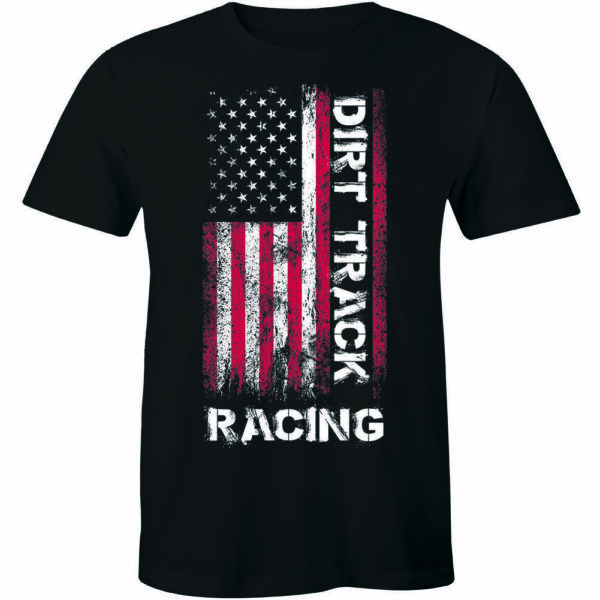 Dirt Track Racing Funny Vintage Short Sleeve Men#x27;s Women#x27;s T Shirts Gifts $20.85