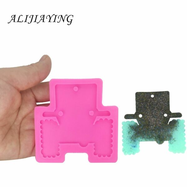 Shiny Car Shape Silicone Mould for DIY Truck Epoxy Keychain Resin Craft Mold $9.20