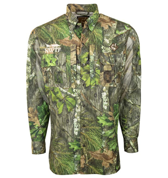OL#x27; TOM VESTLESS MESH BACK SHIRT WITH SPINE PAD MOSSY OAK LARGE