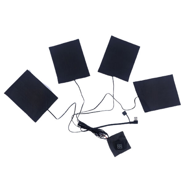 4 in 1 Electric Heating Pad Thermal Vest Heater Jacket Settings USB Charging $9.96
