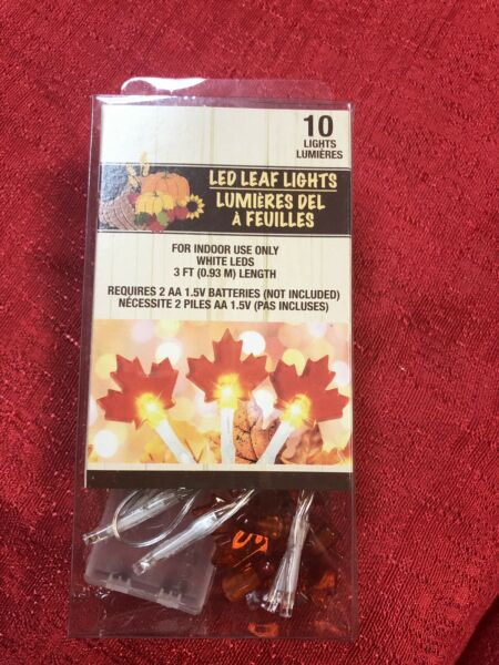 Fall Leaves Indoor String Lights Decorative Lights Festive Battery Operated