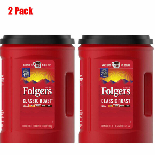 Folgers Classic Roast Ground Coffee 51 oz. 2 Pack