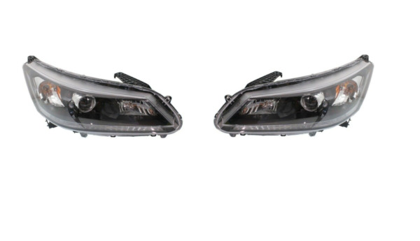 For 2013 2015 Honda Accord Headlight Sedan 4 Door Halogen Headlamps Left Right