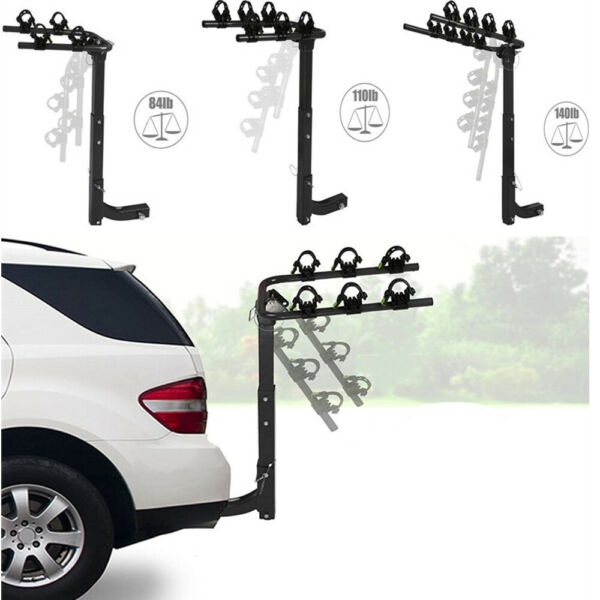 Lonabe 2 3 4 Bike Rack Hitch Mount Carrier 2quot; Receiver Cars SUVs Trucks Folding $72.99