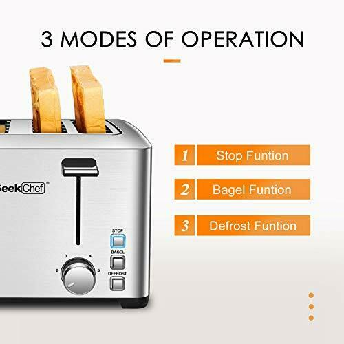 Geek Chef 4 Slice toasterStainless Steel Toaster 1500W