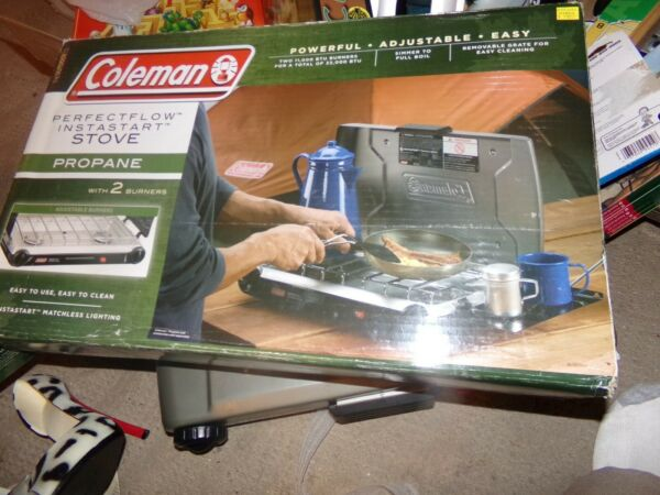 Coleman Perfect Flow Instastart 2 Burner Propane Stove Model 5466A NIB