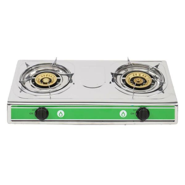 Portable Propane Gas Double 2 Burner Camping Tailgating Stove 20000BTU BBQ Grill