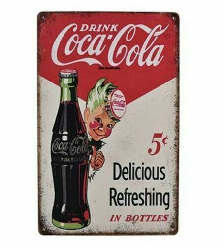 NEW Coca Cola with Sprite Boy Metal Sign 12x16