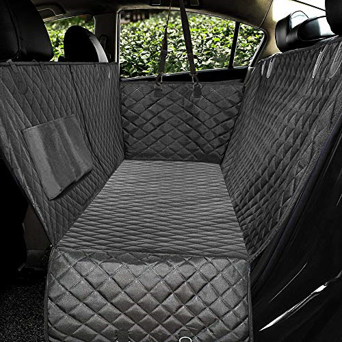 Honest Luxury Quilted Dog Car Seat Covers with Side Flap Pet Backseat Cover for $37.64