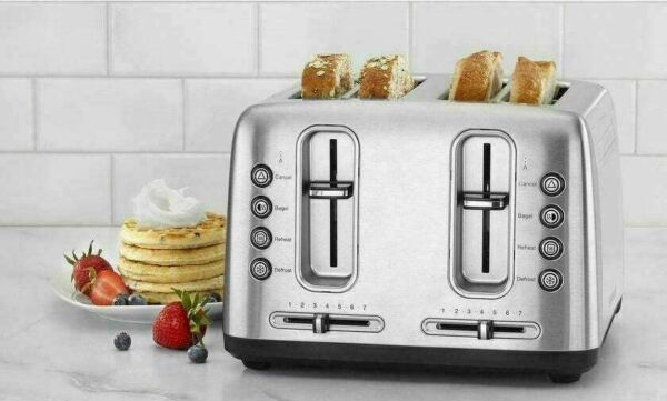 Cuisinart Stainless Steel 4 Slice Toaster with Shade Control Refurbished