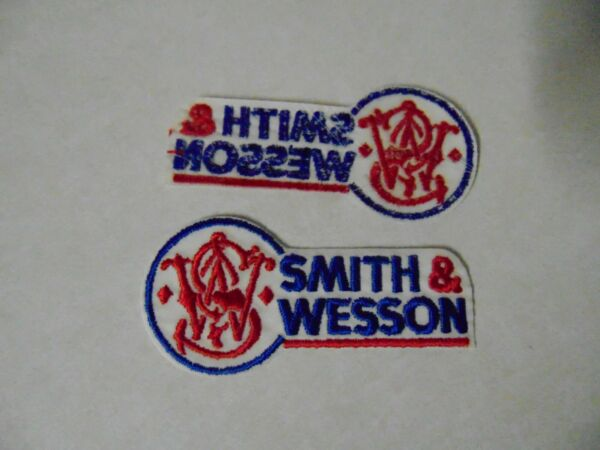 LAW ENFORCEMENT PATCH POLICE OLDER SMITH amp; WESSON ARMS 4 INCHES IRON OR SEW ON $2.99