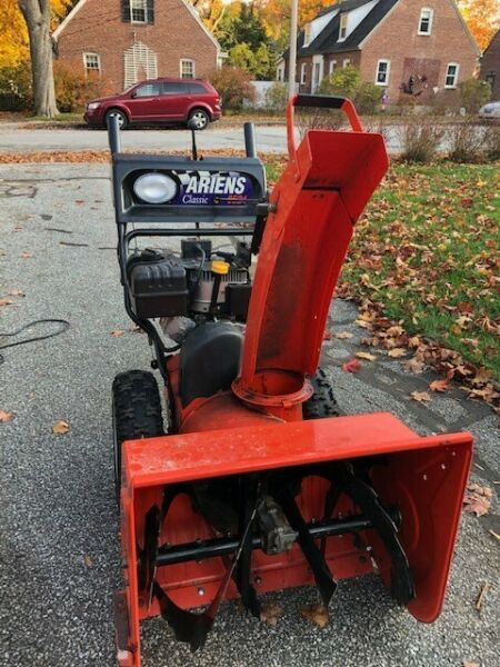 used snow blowers for sale Ariens Deluxe 24 inch clearing width electric starter