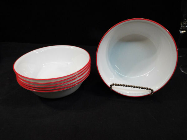 6 Corning Hot Dots 6 1 4quot; Cereal Bowls Excellent Condition Looks Unused