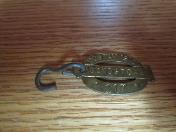 Vintage Dog Tax 1910 Sandstone #117 Metal Dog Tag $140.00